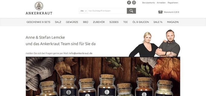 Gewürze online kaufen bei Ankerkraut