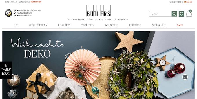 Der Online-Shop von Butlers überrascht dich