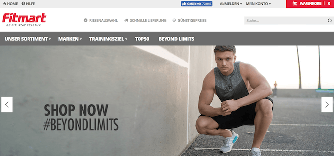 Fitmart bietet online Supplements an