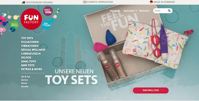 Der erotische Online Shop für Sextoys Fan factory