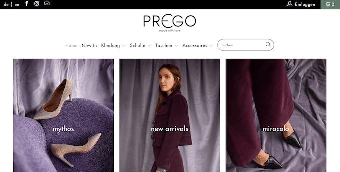 Der Mode-Shop für Frauen Prego