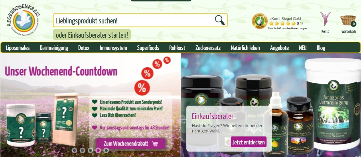 Regenbogenkreis der vegane onlineshop