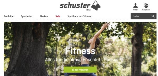 Sport Schuster Sportartikel finden