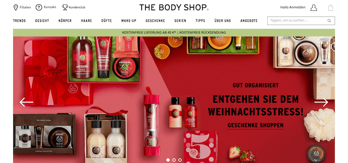 Beauty-Produkte im The Body Shop