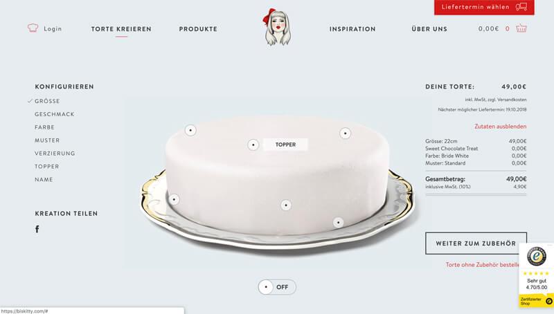 Biskitty Torten im Online-Shop