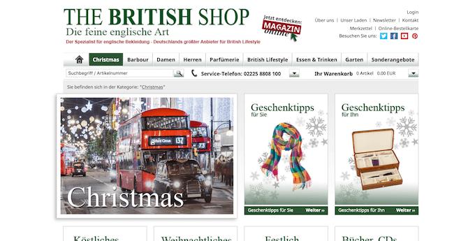 Der Online-Shop für Briten-Begeisterte