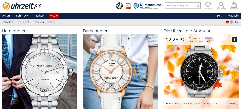 Luxusuhren online kaufen bei uhrzeit.org