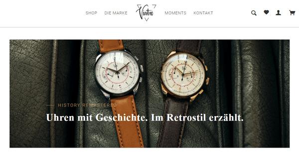 Uhren online kaufen im onlineshop von vintro watches