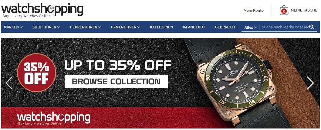 watchshopping Gutscheine dein shop fuer luxusuhren